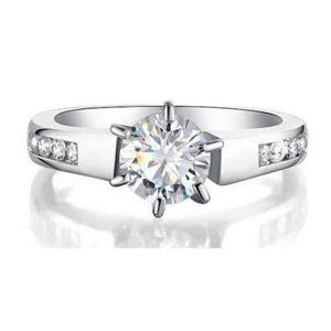 Six Prong set CVD diamonds 2.00 ct Solitaire with